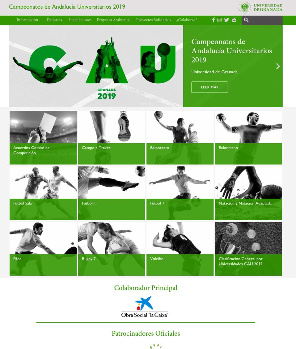 Captura de pantalla nueva web CAU2019